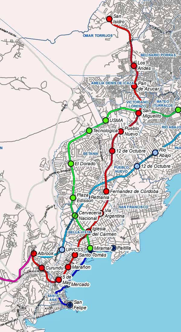 Panama Metro Map Pty4u Com
